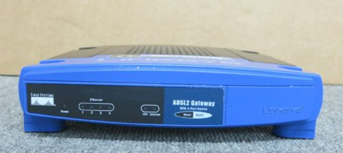 Cisco Linksys AG241 v2 ADSL2 Modem Router With 4 Port Switch - No AC Adapter